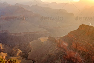 Grand Canyon landscape at sunrise