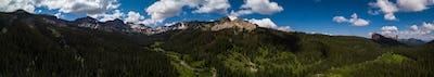 San Juan Mountains aerial panorama Colorado