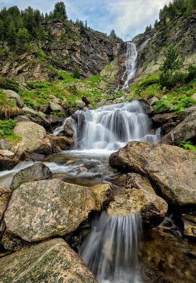 Waterfall in Rila Mountains