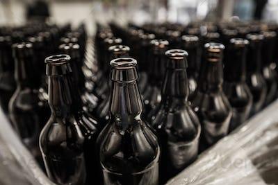 Bottles prepared for filling