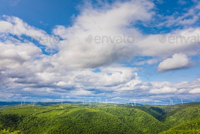 Beautiful panoramic view from the top of St-Joseph mountain, Que
