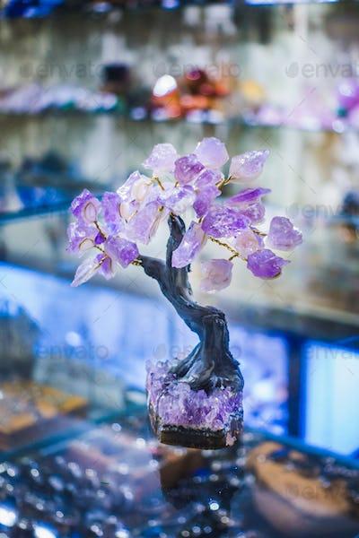 Precious Amethyst Stone Tree