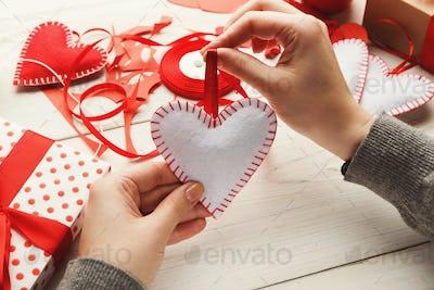 Valentine day handmade gifts background
