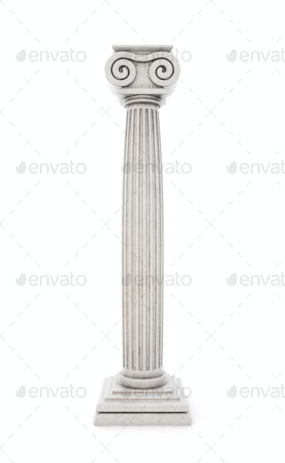 Antique column stock illustration isolated on white background.