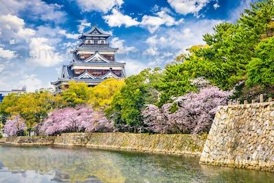 Hiroshima Castle in Spring