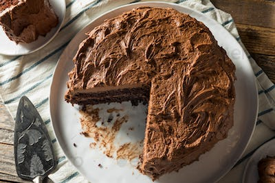 Sweet Homemade Dark Chocolate Layer Cake