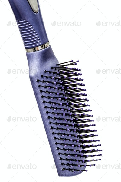 New plastic comb for hair, isolated on white background