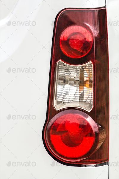 Taillight on a modern prestigious car