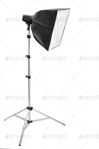 Big photographic softbox, isolated on a white background
