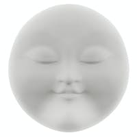 Face-mask of white  clay, isolated on white background