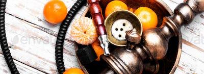 Nargile with mandarin