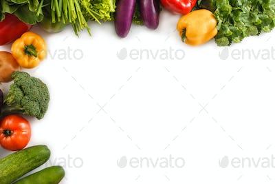 Assortment of fresh vegetables design