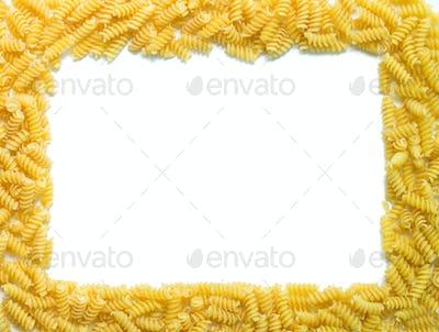 Spirals pasta border