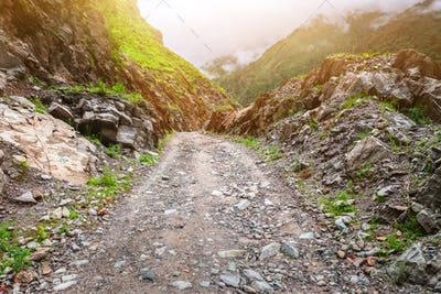 rural road in Nepal