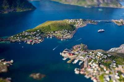 Panorama Lofoten is an archipelago in the county of Nordland, No