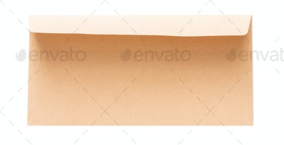 Valentine day letter in envelope isolated on white background