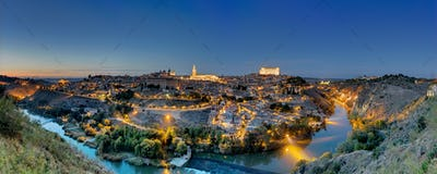Panorama of Toledo at dawn