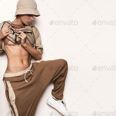 Military Style Dance. Panama and jacket. Hip Hop Model Street St