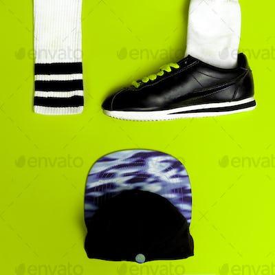 Minimal fashion creative art. Urban street vibrations. Sport. Sn