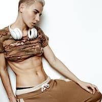 Military Urban Style. Slim body fashion sports wear Lady