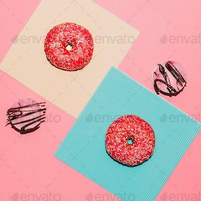 "Set ""baking lover"" Fast food fashion art Creative design"