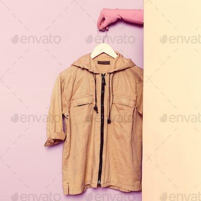 Stylish clothes. Military Jacket. wardrobe ideas trend