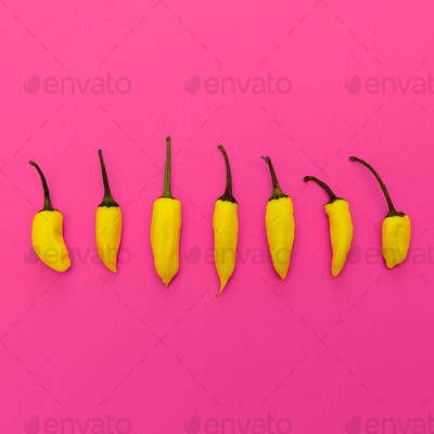Yellow pepper. Minimal art design
