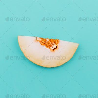 Piece Love Melon fruit. Fresh tropical ideas. Minimal Creative a