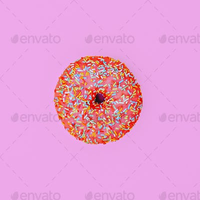 Donut. Minimal. Surreal fashion art