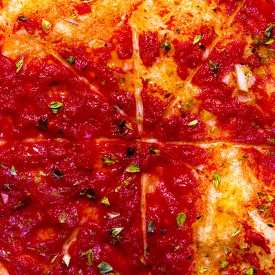 Pizza background. Minimal art details