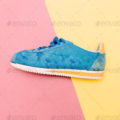 Stylish sneakers. Minimal fashion design