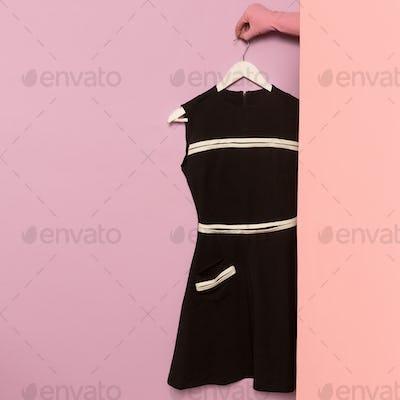 Stylish clothes. Black vintage dress. wardrobe ideas trend