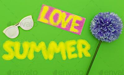 Love Summer set. Minimal art fashion style