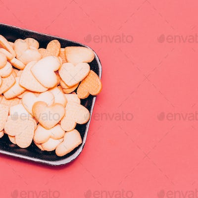 Hearts Cookies Minimal art design style Candy colors