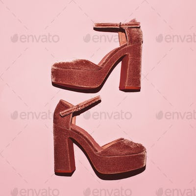 High Heel shoes. Trend. Style. Lady fashion concept