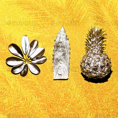 Tropical plants set Minimal art design