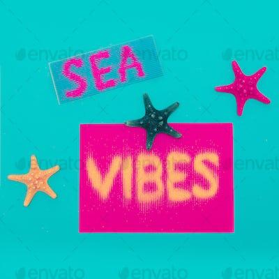 Beach and vacation. sea vibes Minimal art design