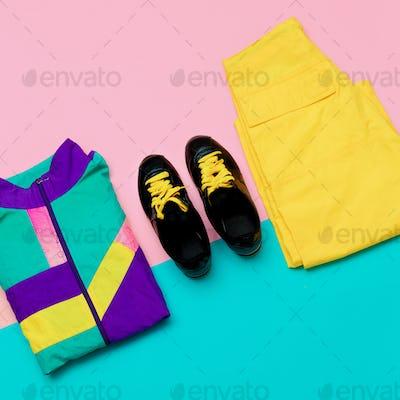 Vanilla Sport Outfit Windbreaker Sneakers Active Minimal style u