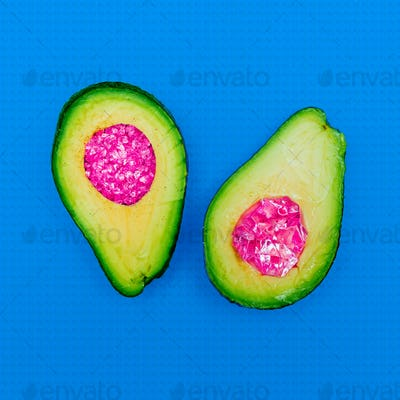 Minimal Avocado in abstraction SurrealArt Still Life Fashion gl