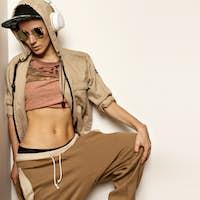 Fashion Skateboard Urban Style Model. Hipster Hip Hop Street Dan