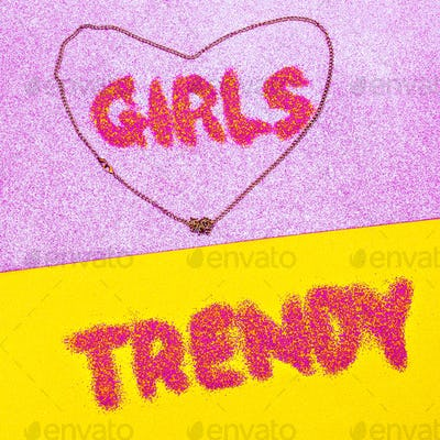 Girls Trend Minimal design fashion art