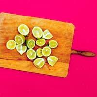 Limes. Minimal idea food creative