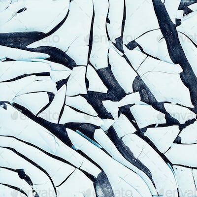 Background cracked plastic minimal art