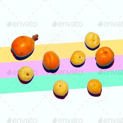 Peaches Set Minimal Art Fruit