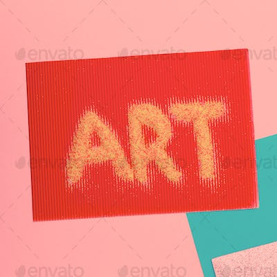 Text of sequins. Art Minimal