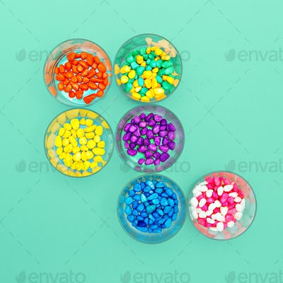 Decorative pebbles Minimal art design Candy Colors