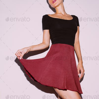 Cute Vintage Outfit Women's Skirt and T-shirt Be in trends