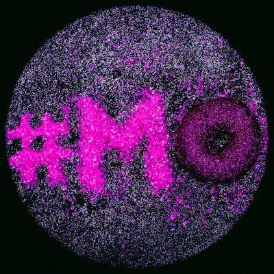 Hashtag Glitter Text Mood Minimal Design Glamour Donut