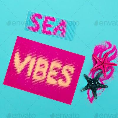 Sea style set Minimal art fashion style