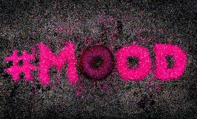 Hashtag Glitter Text Sweet Mood Minimal Design Glamour Donut